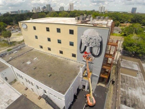 Orlando Mural Droneshot