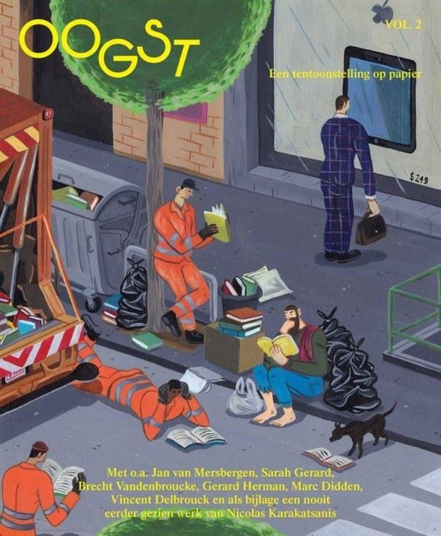 Der geniale, mit einem recht schwarze Humor gesegnete Brecht Vandenbroucke illustrierte nicht nur das Cover der zweiten Ausgabe neuen belgischen Magazins »Oogst« für Kunst, Literatur und Film, sondern fertigte auch alle Illus für die Innenseiten an http://brechtvandenbroucke.blogspot.de/