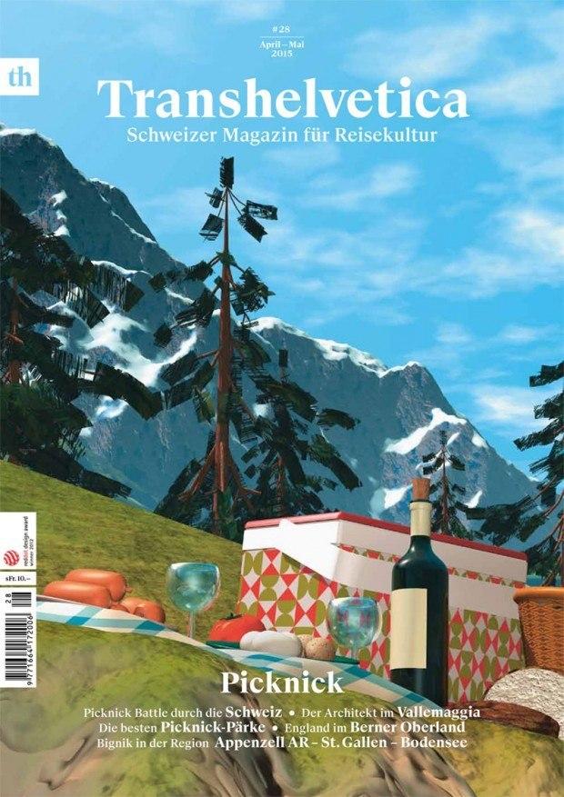 Das 3-D-Picknick wurde vom Künstlerpaar Monica Studer und Christoph van den Berg kreiert und ist Teil ihres Webprojektes Hotel Vue des Alpes http://www.vuedesalpes.com/