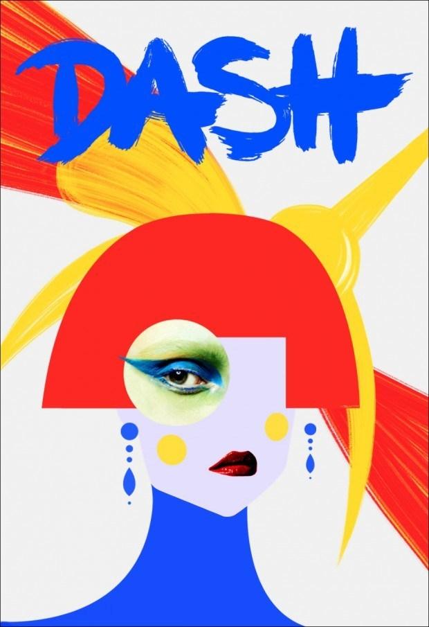 Für das Londoner Modemagazin »Dash« lieferte  Velwyn Yossy diese konstruktivistisch anmutende Coverillustration – basierend auf einem Foto von David Schulze http://www.velwyn.com