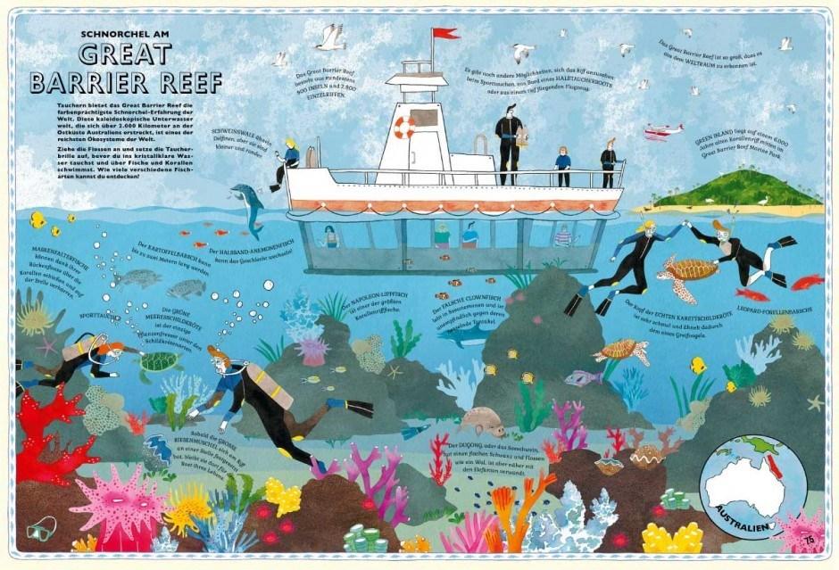 »Der Atlas der Abenteuer« mit Illustrationen von Lucy Letherland
