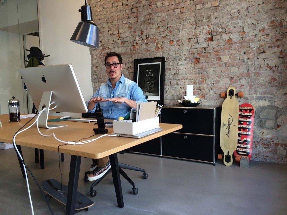 Managing Director Diego Miranda bei der Arbeit