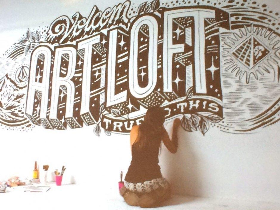 Mural-Typo von Gemma O'Brien
