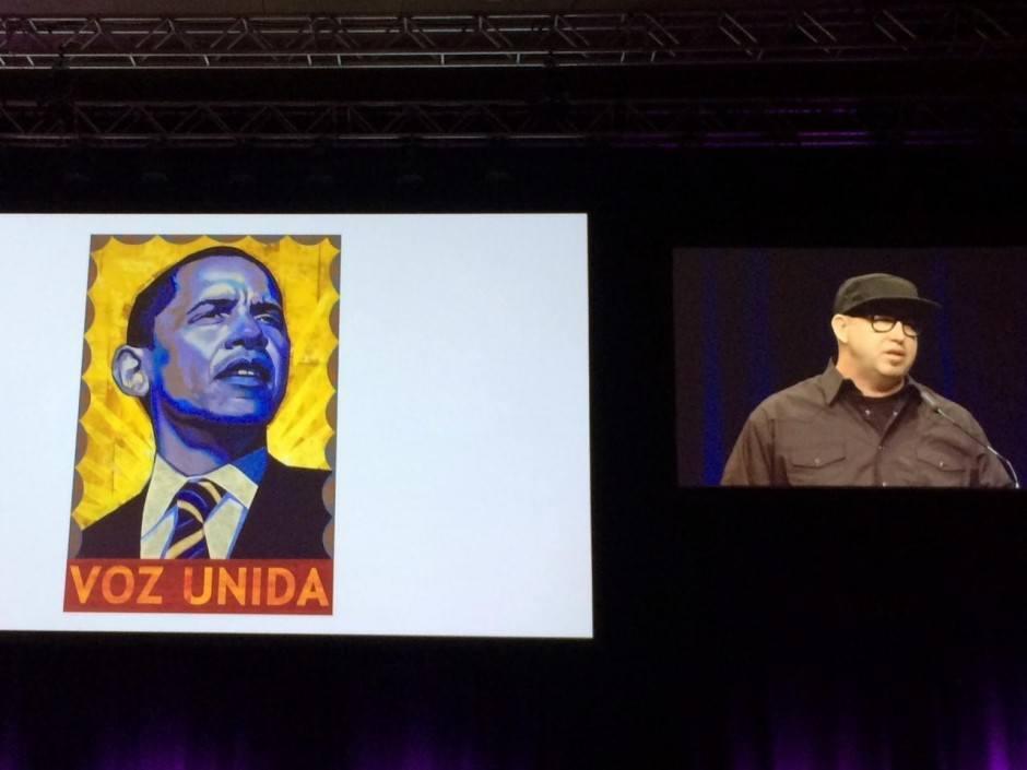 Das Plakat, das Josh Higgins den Job als Kampagnen-Gestalter bei Obama verschaffte