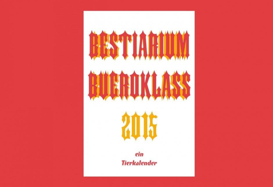 Bestiarium - ein Tierkalender, Klass, Risodruck