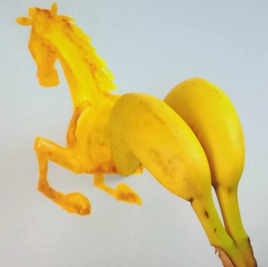 Bananenpferde-Arsch von Christoph Niemann