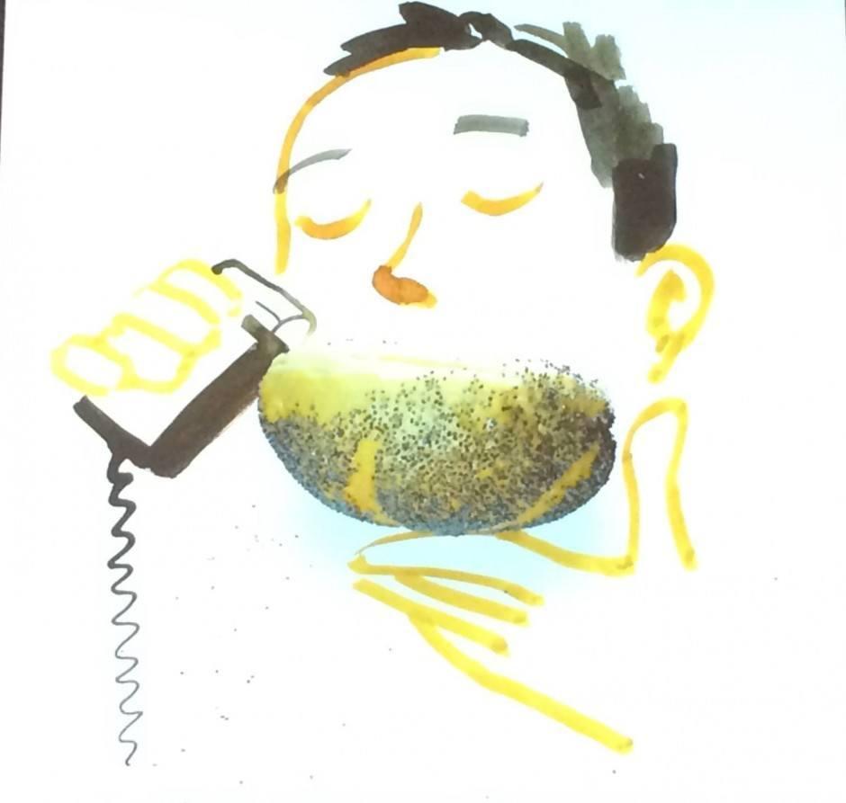 Brötchen-Bart von Christoph Niemann