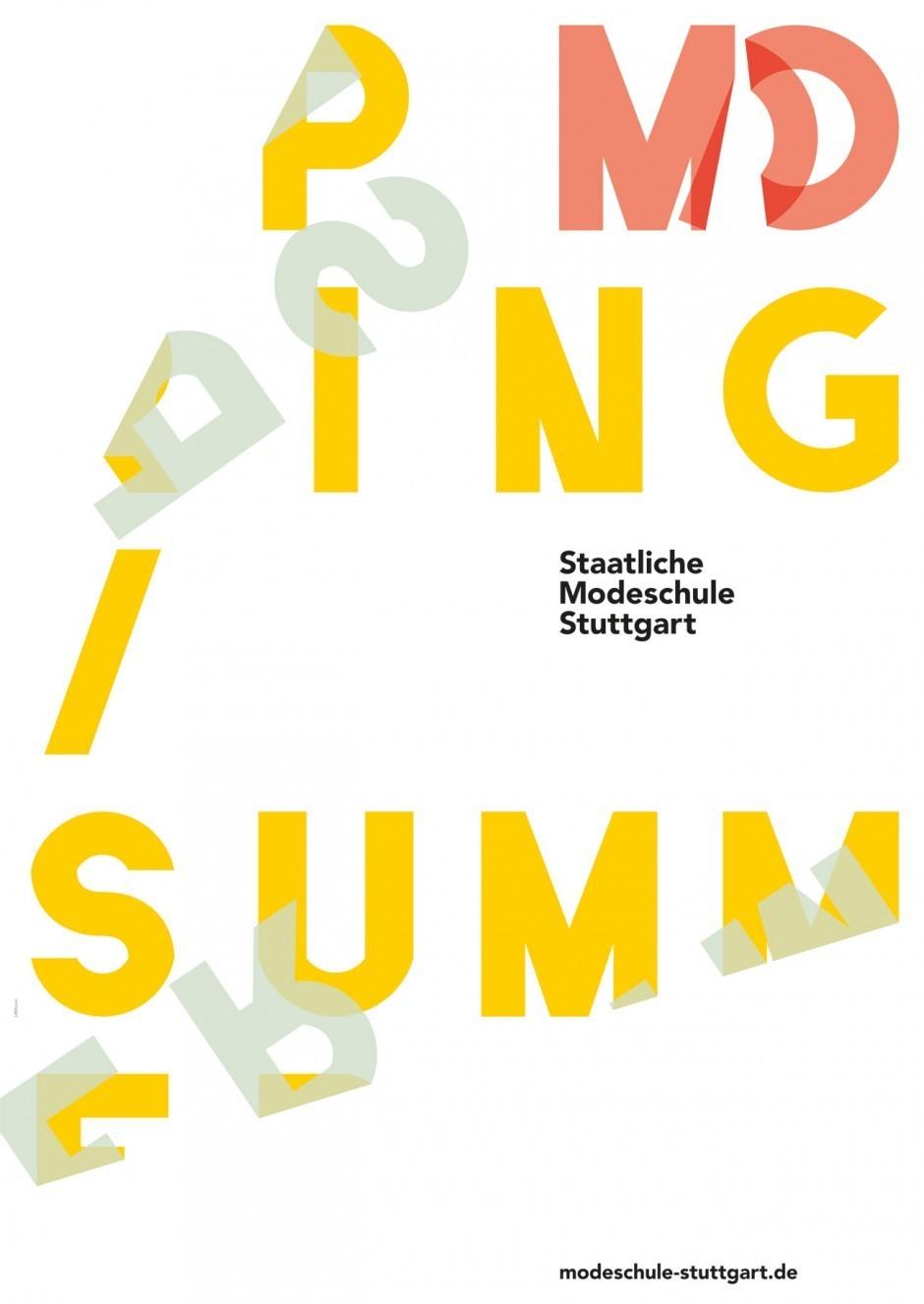 Plakatentwurf für die Modeschule Stuttgart