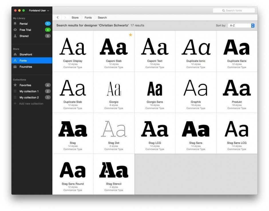 Fontstand Search