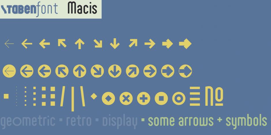 Displayfont Macis