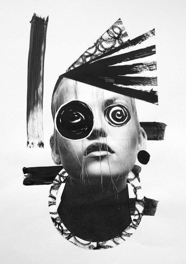 Der Einsatz von Mixed Media liegt bei Collage quasi in der Natur der Sache – hier Arbeiten von Illustratorin und Paper Artist Ciara Phelan aus London. http://ciaraphelan.com