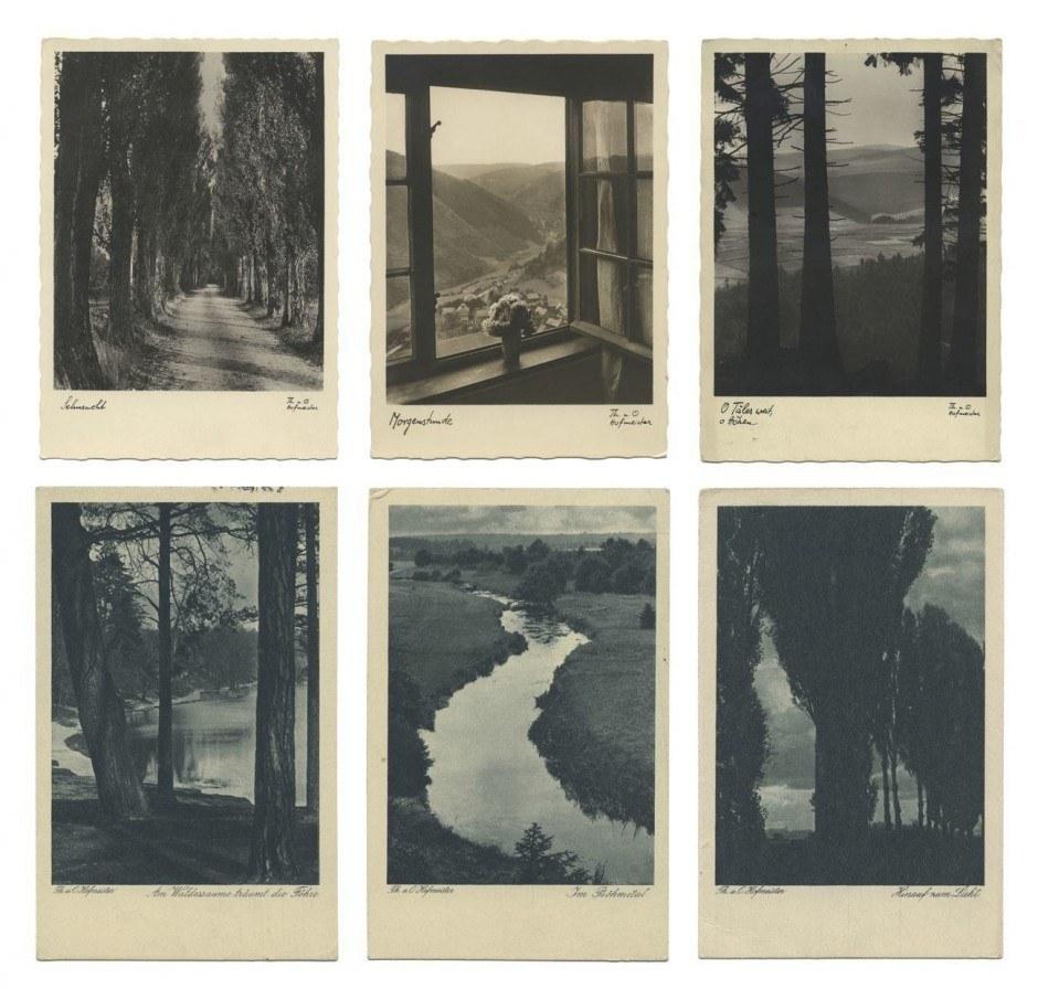 Postkarten, 1910er und 20er Jahre, 3 Silbergelatineabzüge, 14,8 x 10,6 cm 3 Rakeltiefdrucke, 14 x 8,9 cm