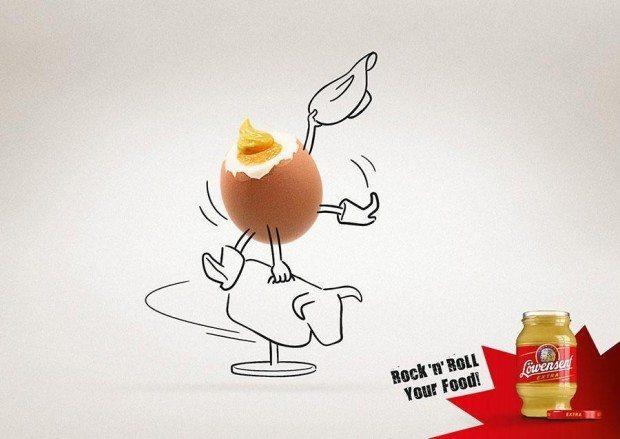 Löwensenf rocks, so die Message dieser von Dirk Rittberger im Auftrag der Werbeagentur taste! aus Offenbach illustrierten Motive
