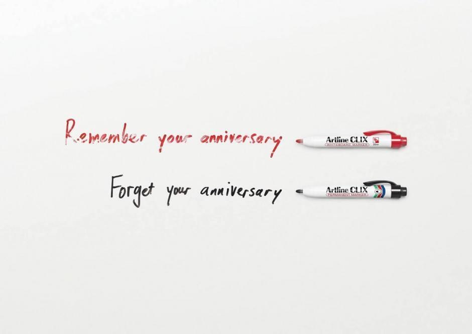 Um den Unterschied zwischen dem flüchtigen Whiteboard Marker und dem Permanent Marker ins Bild zu setzen, mussten sogar 9/11 und Herpes herhalten.