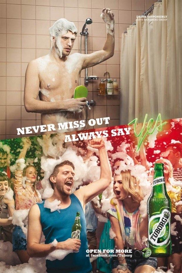 Man stelle sich die Bilder mal vertauscht vor: Stünde oben die Party, könnte man das zweite Bild auch als miese Katerstimmung auffassen oder gar als tristes Alkoholikerleben.