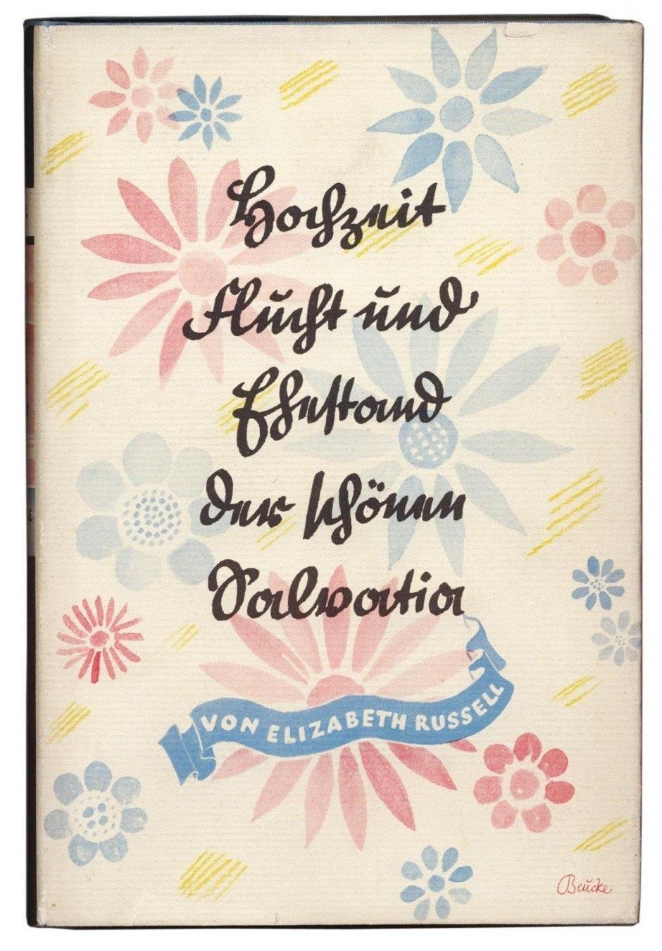 Den meisten fällt es heute schwer, die seit dem 18. Jahrhundert ver-breitete deutsche Schreibschrift zu lesen. Dabei war sie es, die die Kinder – in der von Ludwig Sütterlin 1911 standardisierten Form – in der Schule lernten, bis die Nazis sie 1941 durch die lateinische Schrift ersetzten. Hier kommt sie auf einem Umschlag von Georg Salter zum Einsatz, dem wohl bekann-testen deutschen Buchgestalter, der 1934 in die USA emigrierte