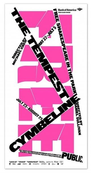 Poster für die Shakespeare in the Park 2015 Kampagne