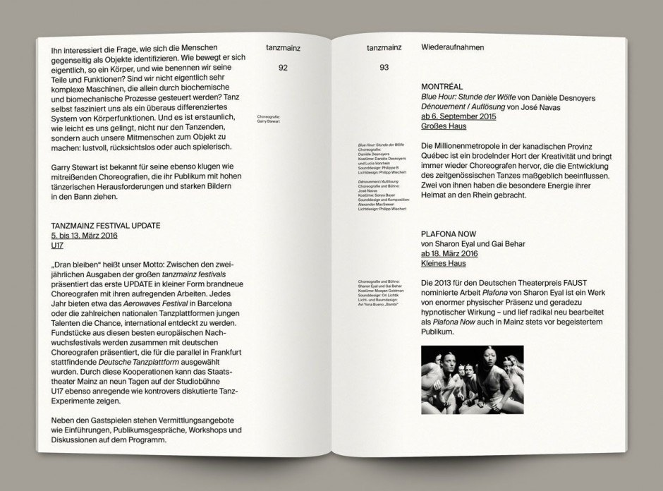 Spielzeitheft 15/16 des Staatstheaters Mainz