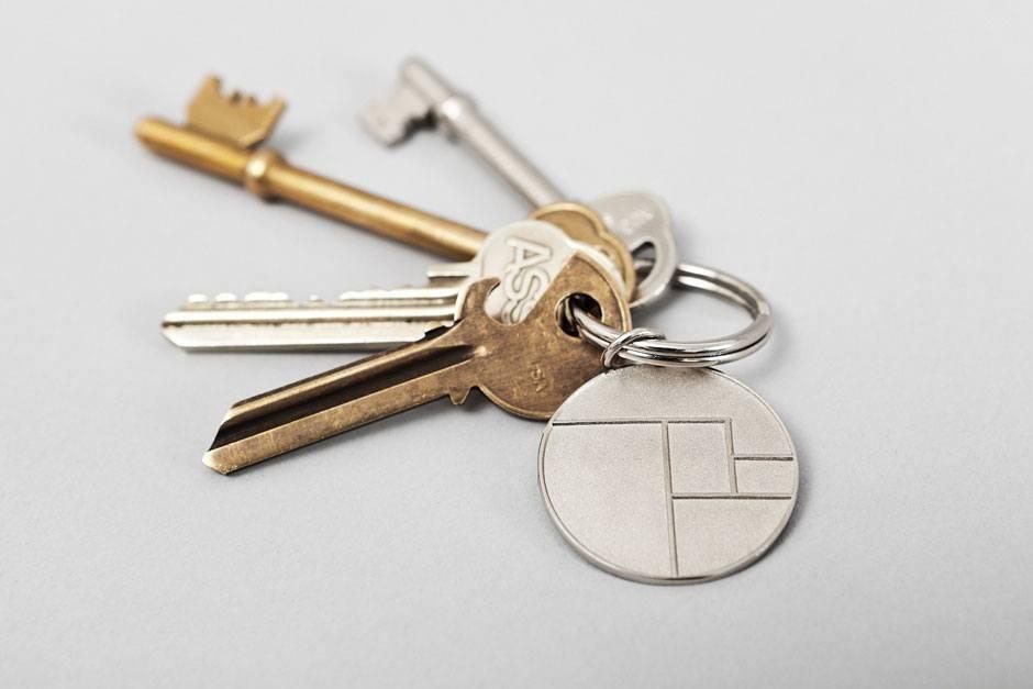 …sondern auch auf Schlüsselanhängern.