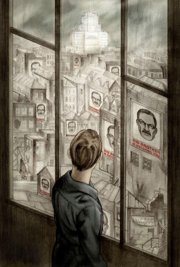 Jonathan  Burton: George Orwell »1984« (erschienen bei The Folio Society). jonathanburton.net