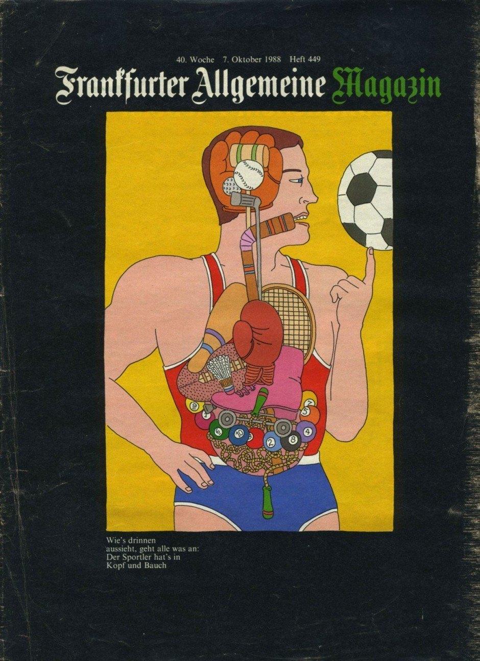 Art-direktor Hans-Georg Pospischil vom Magazin »Frankfurter Allgemeinen Zeitung« war sein fruchtbarster Auftraggeber, so Seymour Chwast