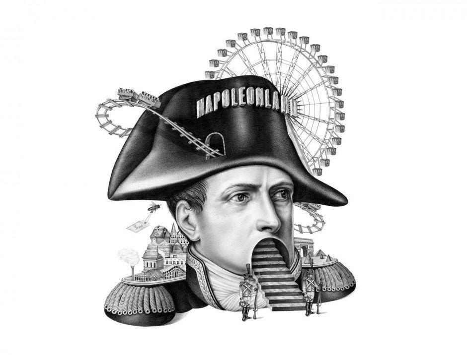 Illustration zur Napoleon-Manie für das Magazin »M« von »Le Monde«