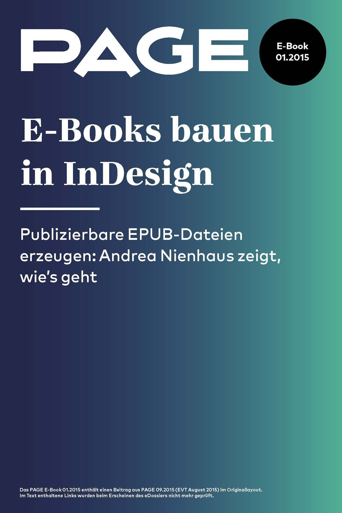 EPUB PAGE Cover E_Books bauen