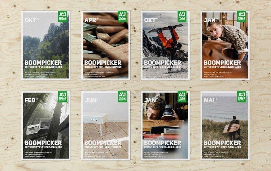 Kundenmagazin Boompicker (verschiedene Ausgaben 2013–2015)