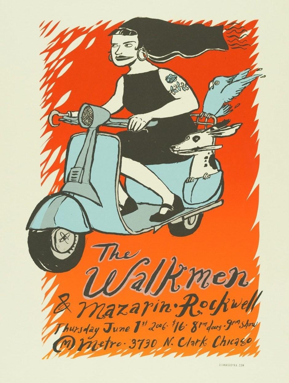 Diana Sudyka, The Walkmen, Chicago, 2006, Siebdruck, 63,5 x 48,2 cm