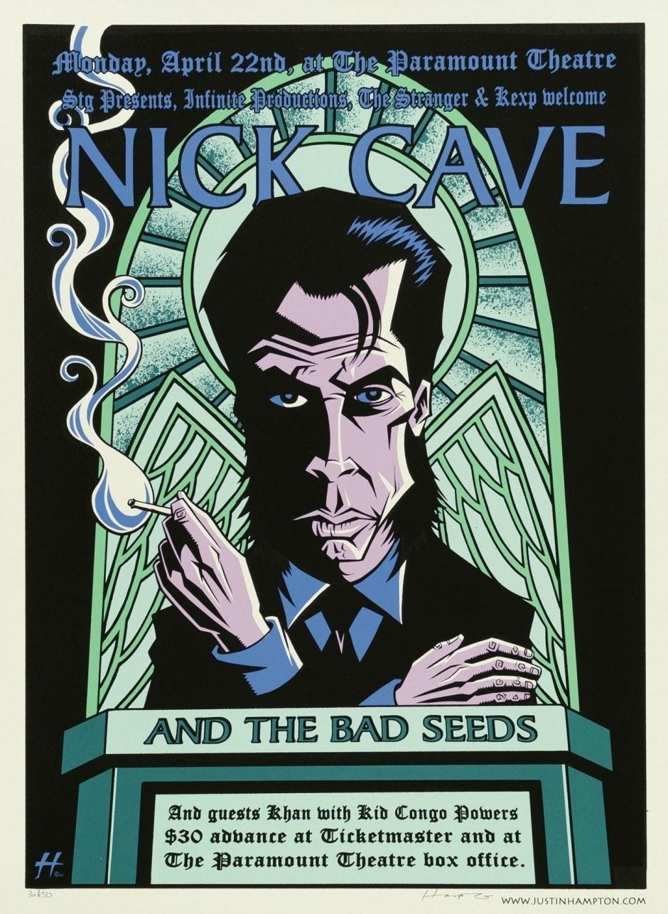 Justin Hampton, Nick Cave, 2002, Siebdruck, 66,3 x 50,5 cm