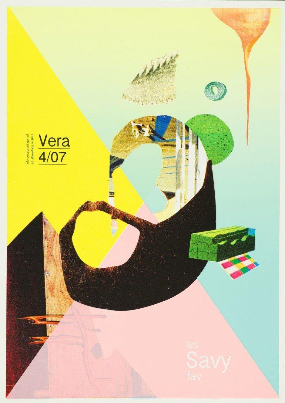 "Strawdogs, ""Les Savy Fav"" (2011), Siebdruck, 46 x 64 cm"