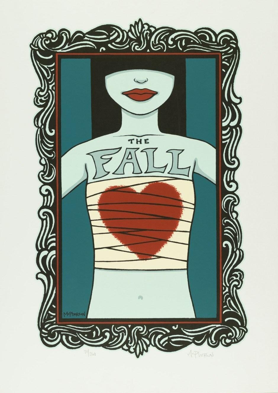 Tara McPherson, The Fall, 2004, Siebdruck, 80,8 x 57,8 cm