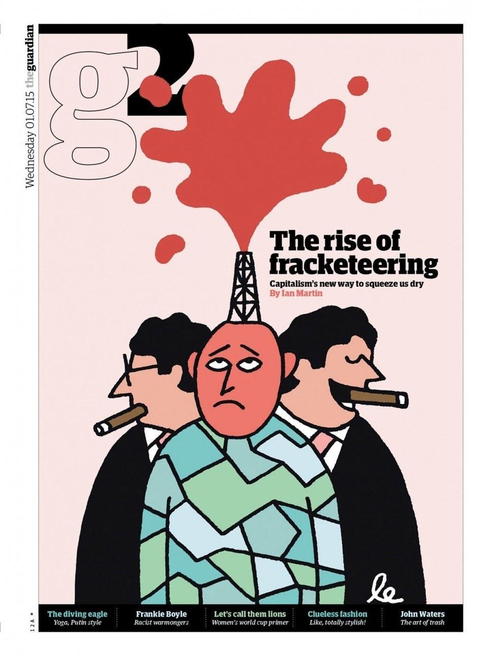 Die bösen Kapitalisten und das Fracking – visuell für den »Guardian« interpretiert von Leon Edler alias leillo. http://leillo.com