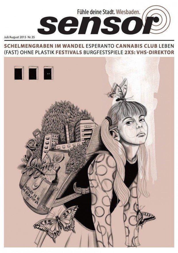 Der junge Illustrator Sören Kunz stammt tatsächlich aus Wiesbaden, wird aber von der Frankfurter Repräsentanz Wildfoxrunning vertreten. http://www.wildfoxrunning.com/illustrators/soeren-kunz