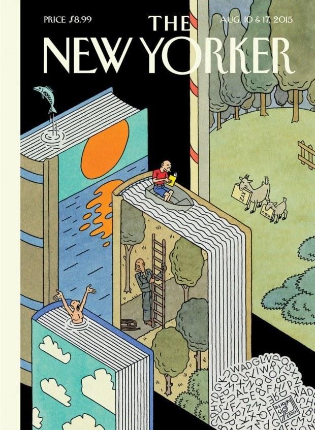 Auf diesem Cover erzählt der niederländische Cartoonist Joost Swarte Geschichten. http://www.joostswarte.com/