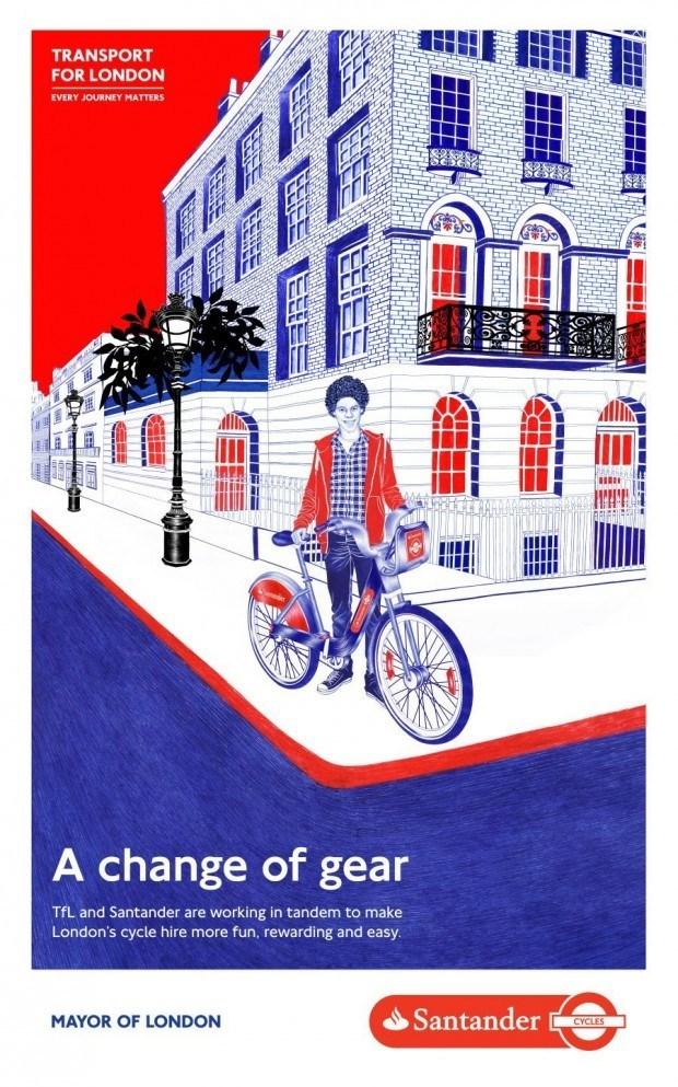 Auffallende Plakate: Helena Hauss für Transport for London