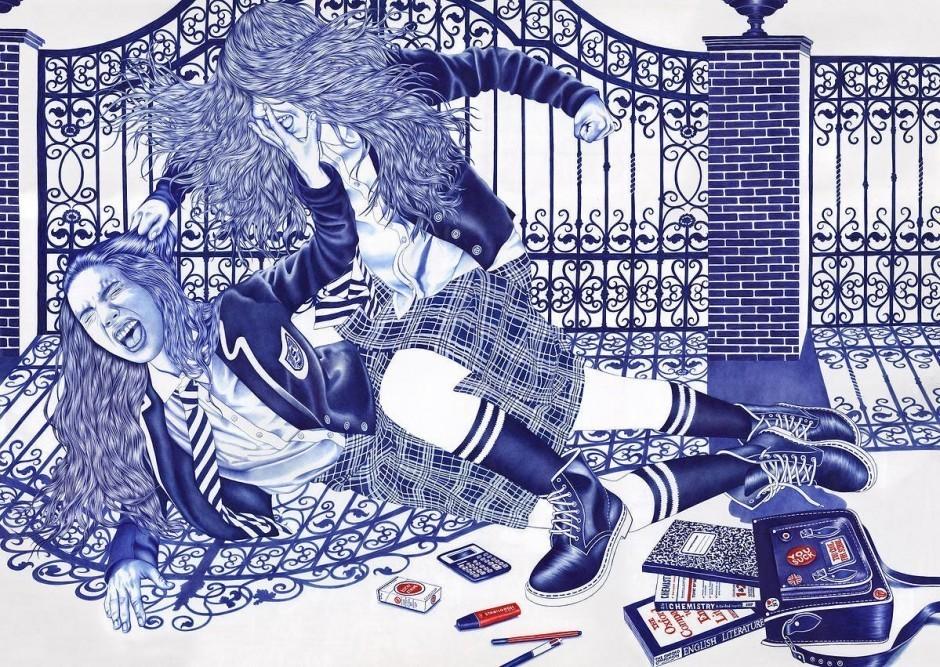 Helena Hauss: The Fight. 120 x 85 Zentimeter