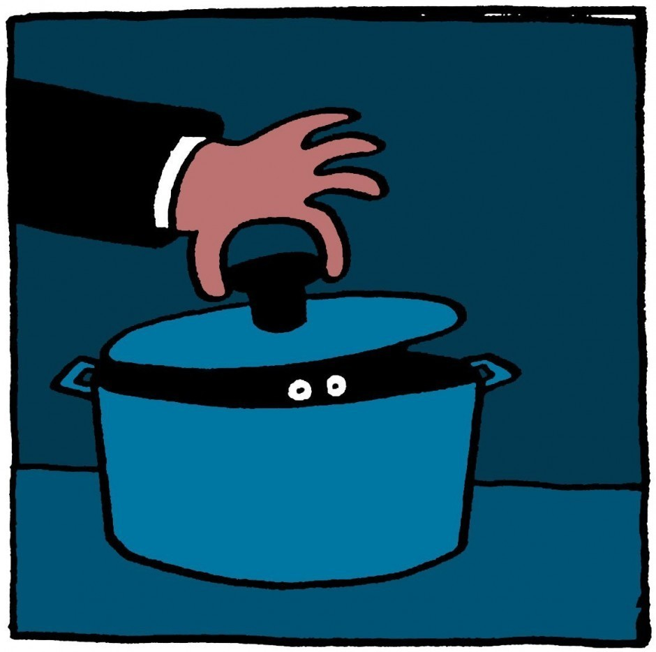 Leon Edler alias leillo geht das Thema Food mit Humor an – hier für »The Observer«. http://leillo.com/