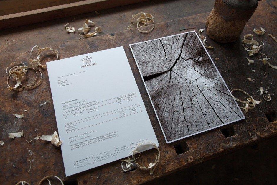 Design und Konzeption: DREIZEHN&FÜNF DESIGN STUDIO, Kunde: Zimmerei Walther Pensold