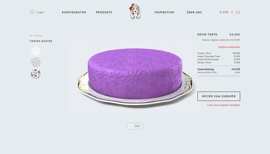 Biskitty – 3D-Torten-Konfigurator