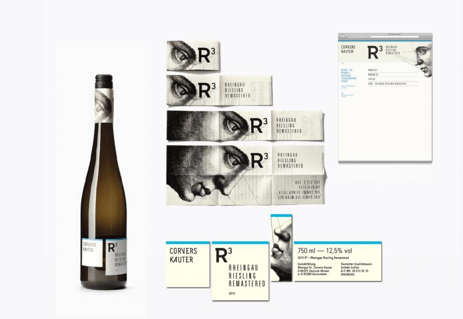 Gleich mehrere Etiketten hat der Konzeptwein R3 von Corvers Kauter.