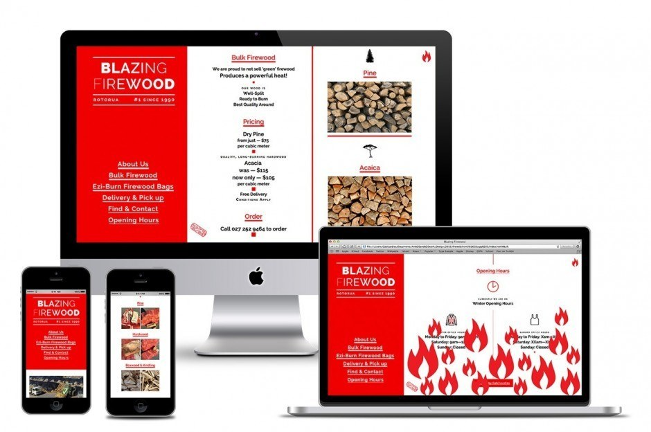 Blazing Firewood – Responsive Website