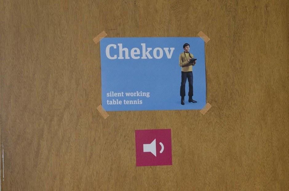 Die Konferenzräume wurden u.a. nach Star Trek Charakteren benannt