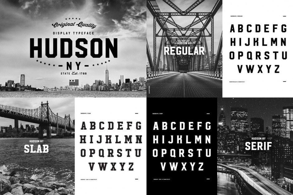 Footits besonderes Faible fürs Schwarzweiß zeigt sich in den Schriftmustern für seinen neuesten Display-Font Hudson, dessen Inspirationsquelle unschwer auszumachen ist.
