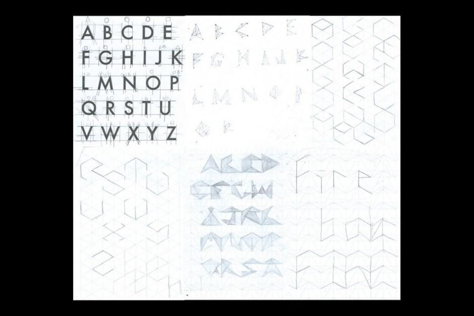 Die Kapstädterin mit griechischen Wurzeln Demi Psaros experimentierte für ihr Projekt Sacred Typography mit geometrischen Grundregeln aus den antiken Schriften Platos. Stufenweise suchte sie konsistente Buchstabenformen in den Möglichkeiten sich steigernder Vielecke.