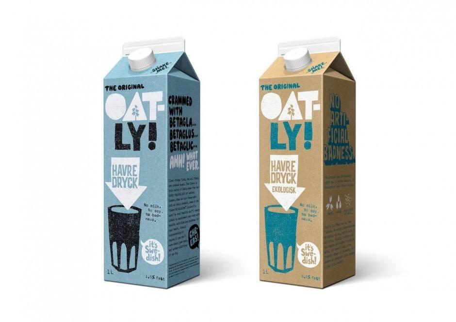 Hafermilch für Veganer – unter dem Namen Oatly schick verpackt von der schwedischen Agentur Forsman & Bodenfors und bereits in zwanzig Ländern in Europa und Asien vertrieben.