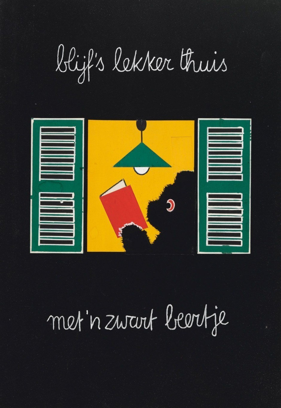 Dick Bruna. Poster Zwarte Beertjes, 1963