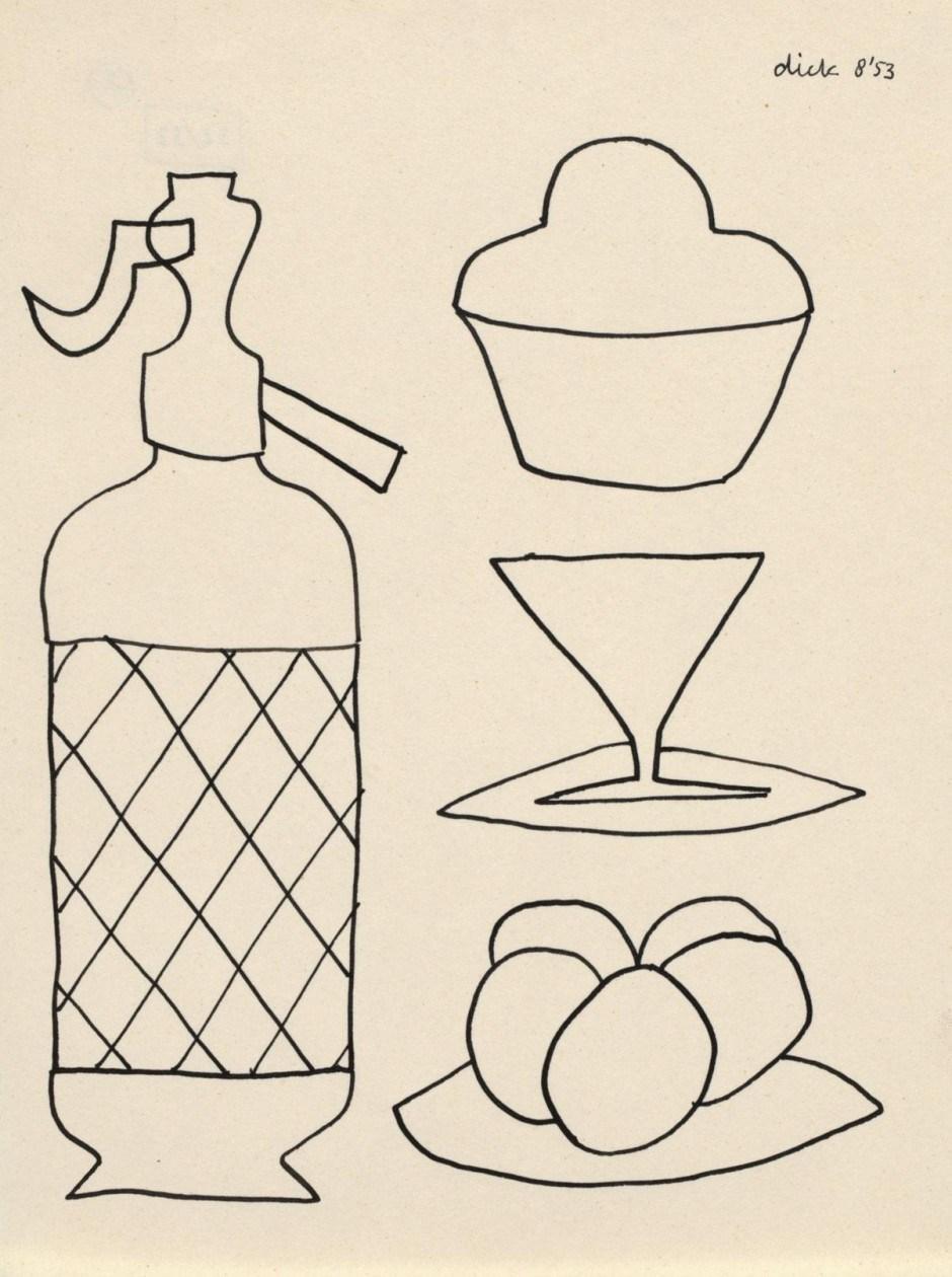Dick Bruna. Pen drawing, 1953
