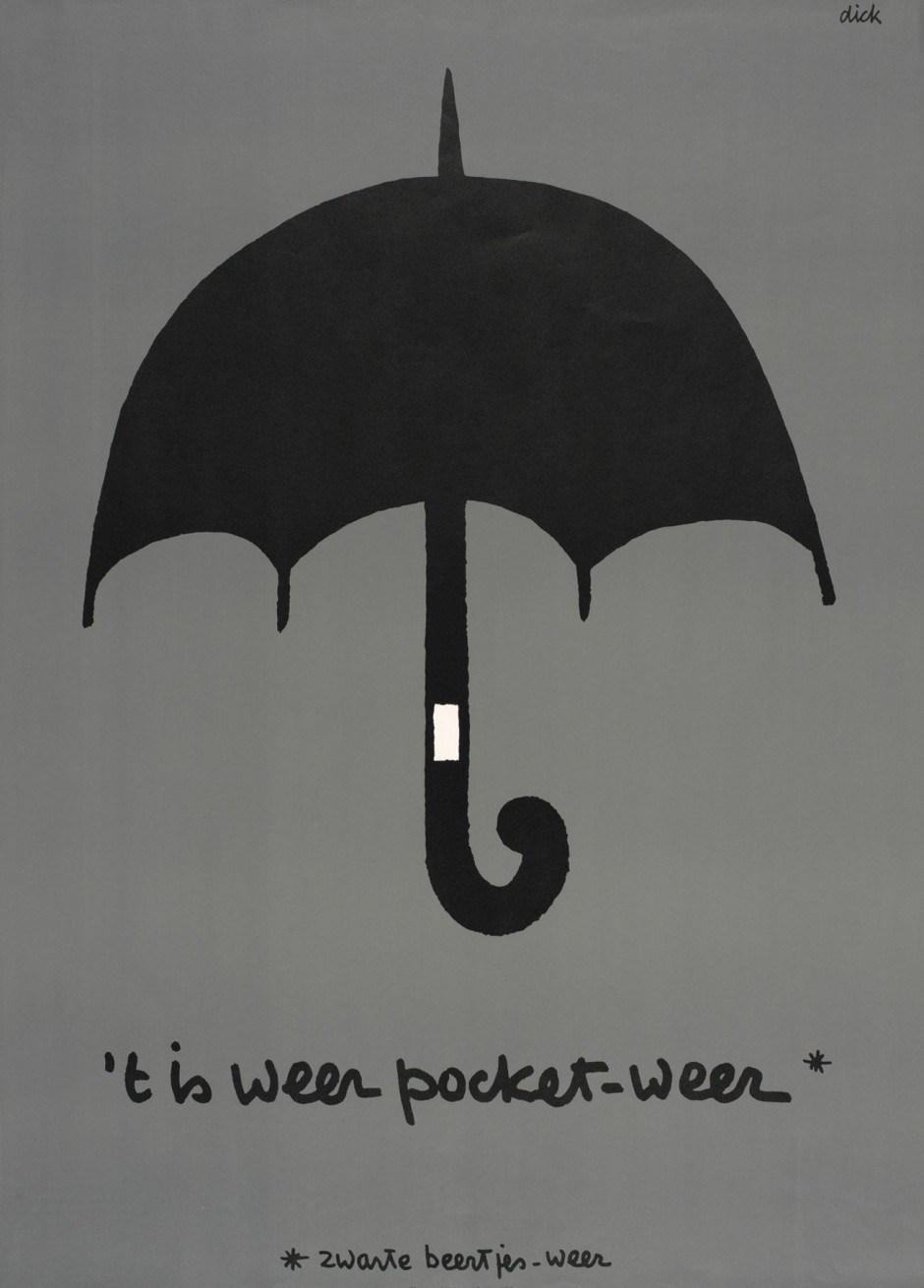 Dick Bruna. Poster Zwarte Beertjes, 1967