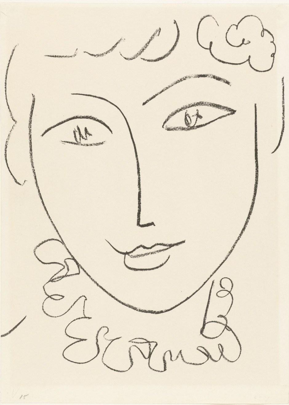 Henri Matisse. La Pompadour c. 1951
